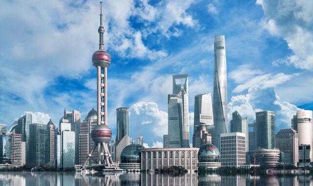 上海の都会の写真