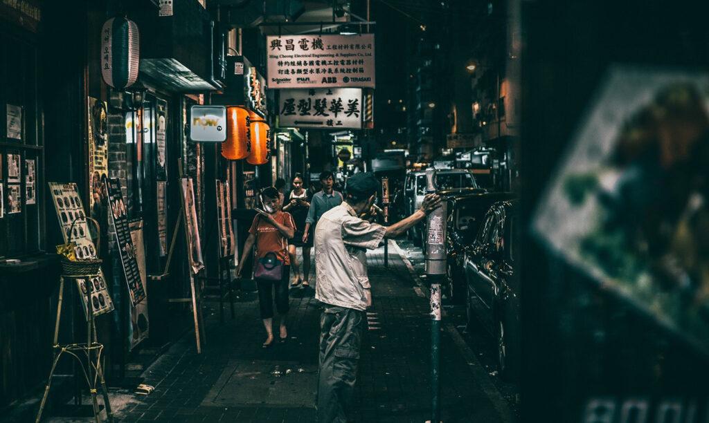 中国夜の街イメージ写真