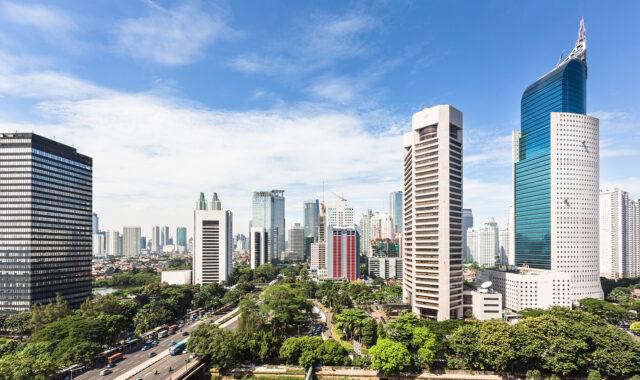 インドネシアの都会風景写真