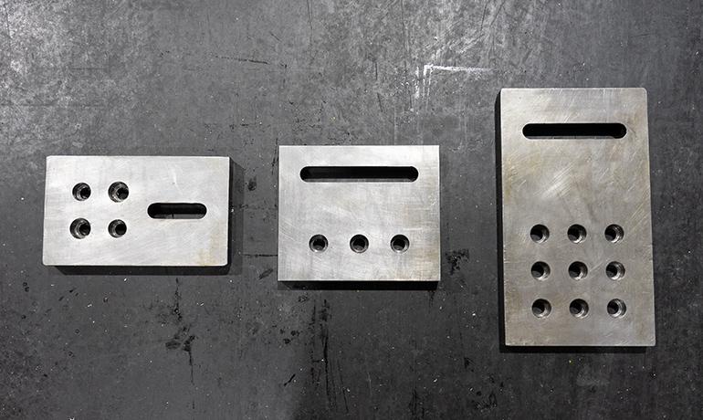 3種類の治具板の写真