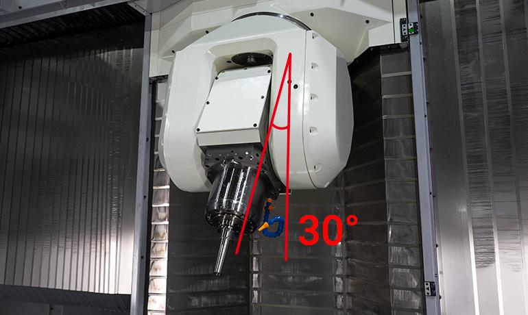 ヘッドに角度が30°ついているV90S内写真