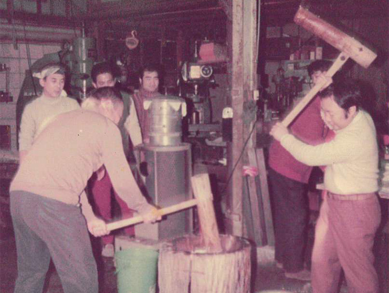 昭和50年頃-餅つき写真その1
