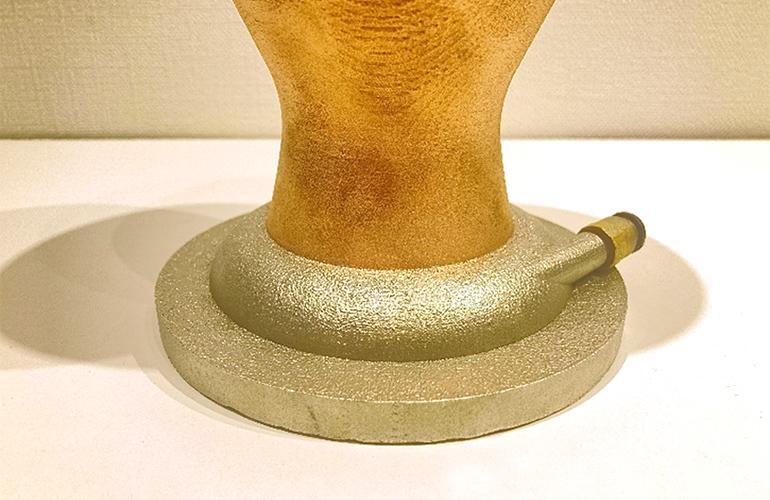 造形の途中で他の金属に変えて造形した参考例その2