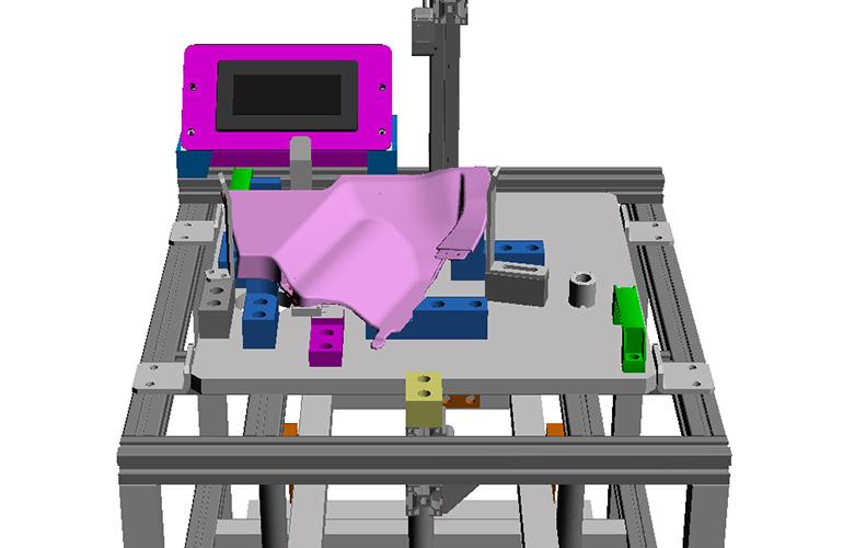 シートカバー検査機の3Dイメージデータ-部分