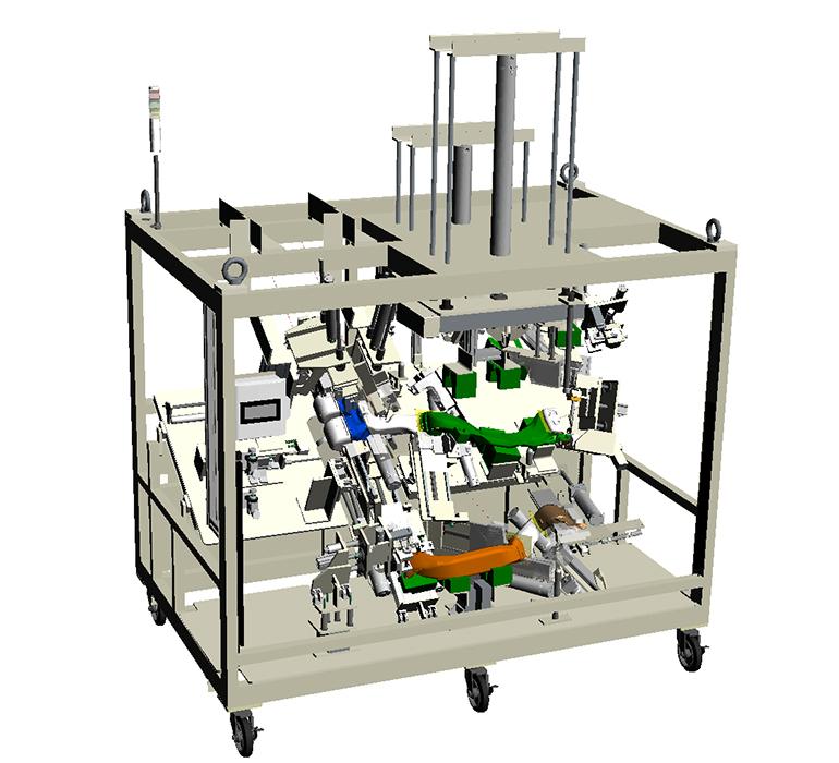 検圧・穴あけ・切断加工機の全体3D