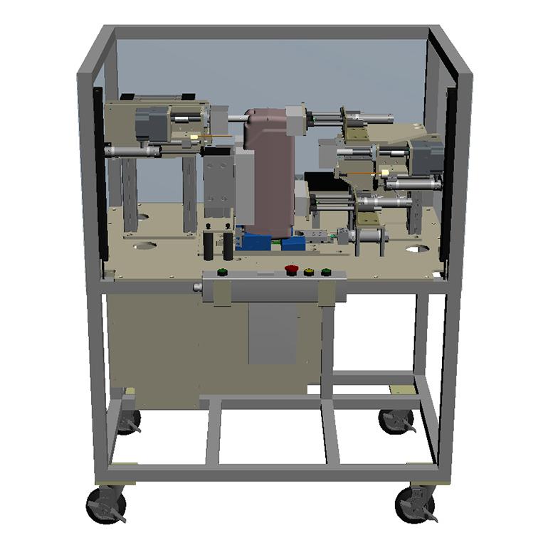 タンク類切削・穴加工機の3Dモデル-全体
