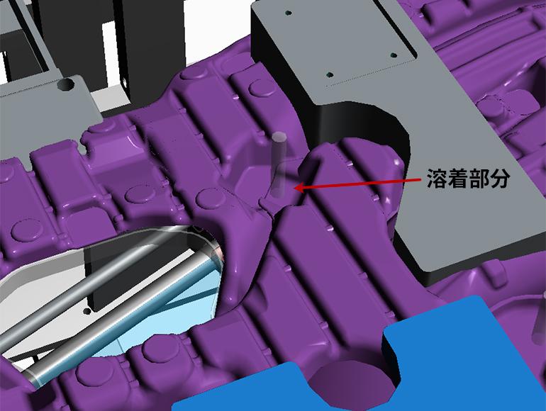 超音波溶着機(アッシー機)の3Dモデル-部分