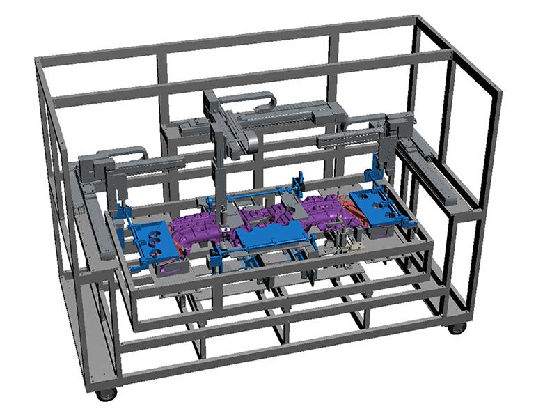 超音波溶着機(アッシー機)の3Dモデル-全体
