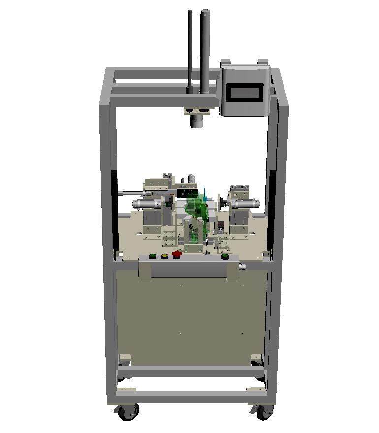 タンク類のリーク試験機-全体の3Dモデル