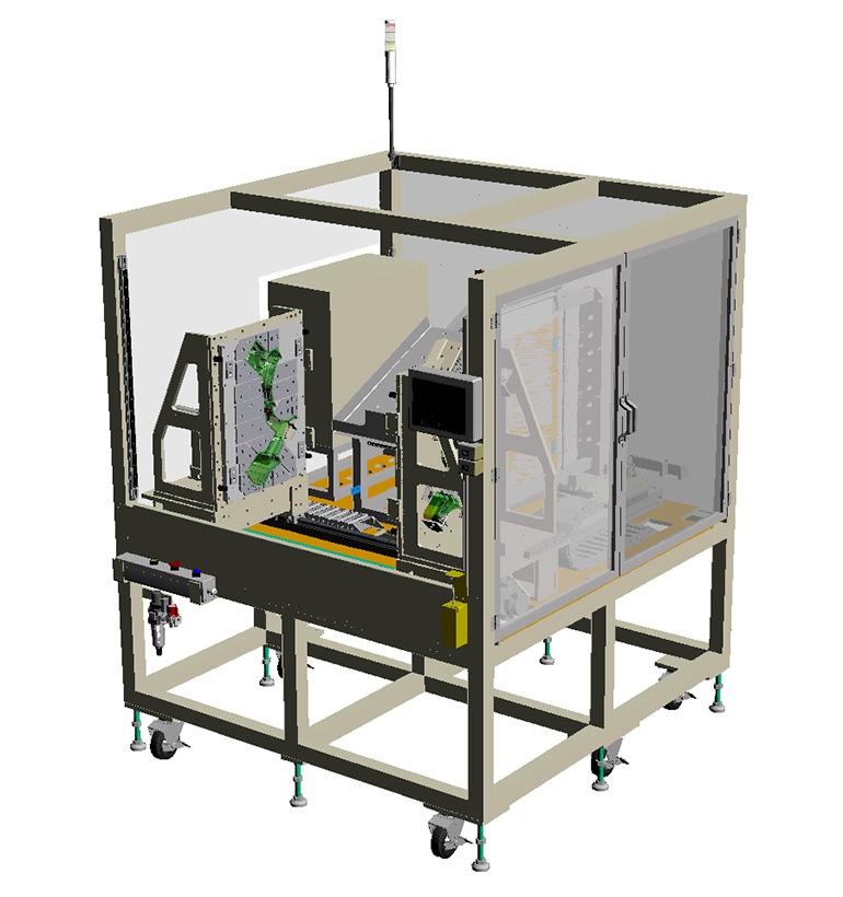 タンク類(ウォッシャータンク、リザーブタンク等)熱板溶着機・溶着治具(汎用機)-全体の3Dモデル