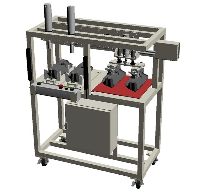 カラー圧入機(アッシー機)-全体の3Dモデル