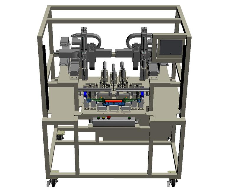 超音波溶着機(アッシー機)-全体の3Dモデル