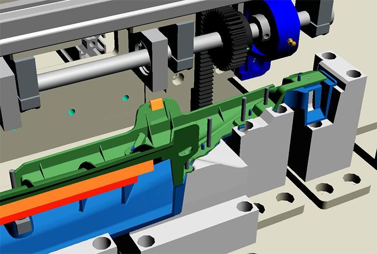 超音波溶着機(アッシー機)-部分的な3Dモデル