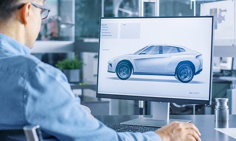 車の設計イメージ画像