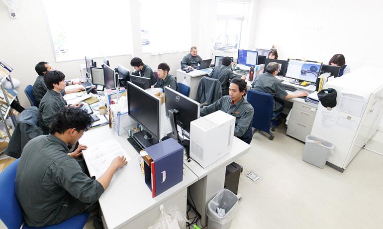 関東製作所関工場事務所内写真