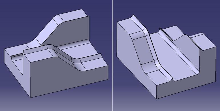 折れ肉検証用の金型モデル