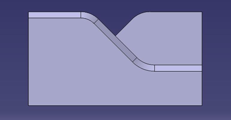 検証用の金型を横から見たモデル