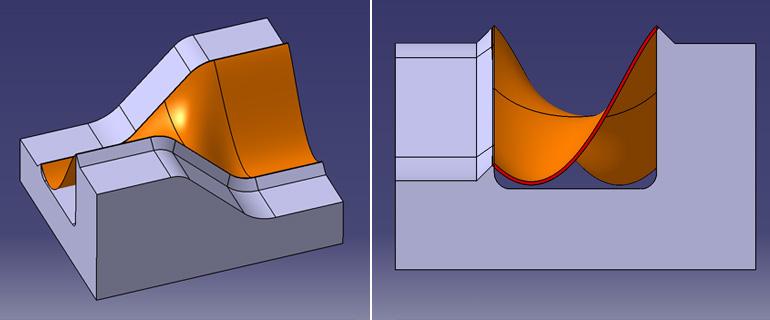 【第二段階】 さらにブローされ、樹脂が膨らみ、形状の変化
