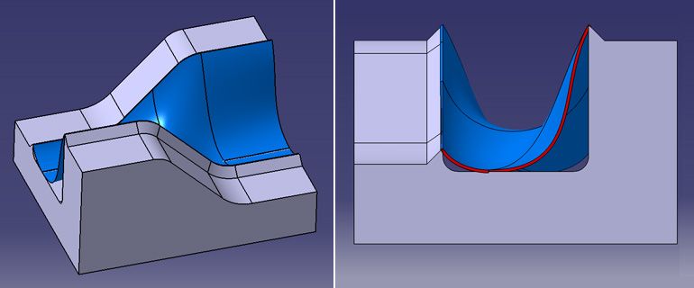 【第三段階】 金型に樹脂が張り付く面積がかなり広く