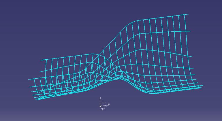 【第三段階】 金型に樹脂が張り付く面積がかなり広く -網目の線-
