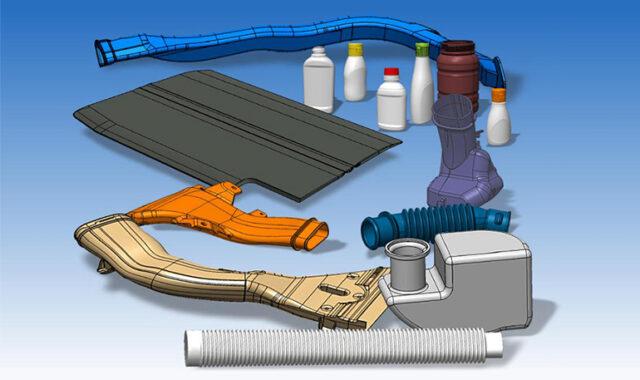 ブロー成形製品のサンプルCADイメージ